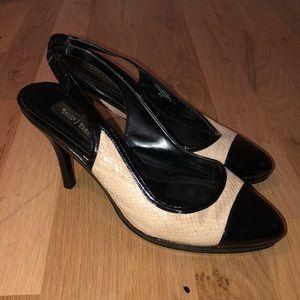 white house black market slingback heels